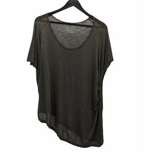 NWOT BLUE LIFE Olive Green Asymmetrical Top Size L